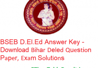 BSEB D.El.Ed Answer Key 2020 - Download 17 March उत्तर कुंजी Bihar Deled Question Paper, Exam Solutions