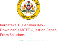 Karnataka TET Answer Key 2020 - Download ಉತ್ತರ ಕೀ 15 March KARTET Question Paper, Exam Solutions